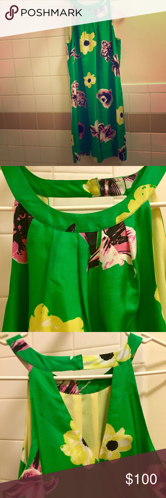 "EUC J.Crew Punk Floral Silk Swoop Dress This is a beautiful silk dupioni ""swoop"" mini dress by J. Crew in the popular ""punk floral"" pattern. Was sold out in many stores and very sought after. Lined. From a couple of years ago but only worn 2-3 times and then professionally cleaned. Snap closure at neck and keyhole shows off your back. Great for summer and very chic! J. Crew Dresses Mini"