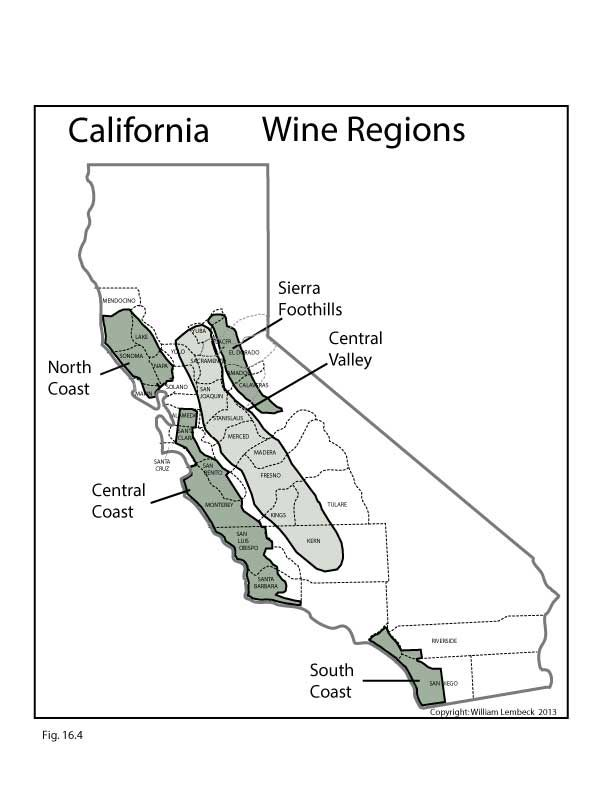 US California Wine Regions By Wineeducators Wine Maps - Us wine regions map