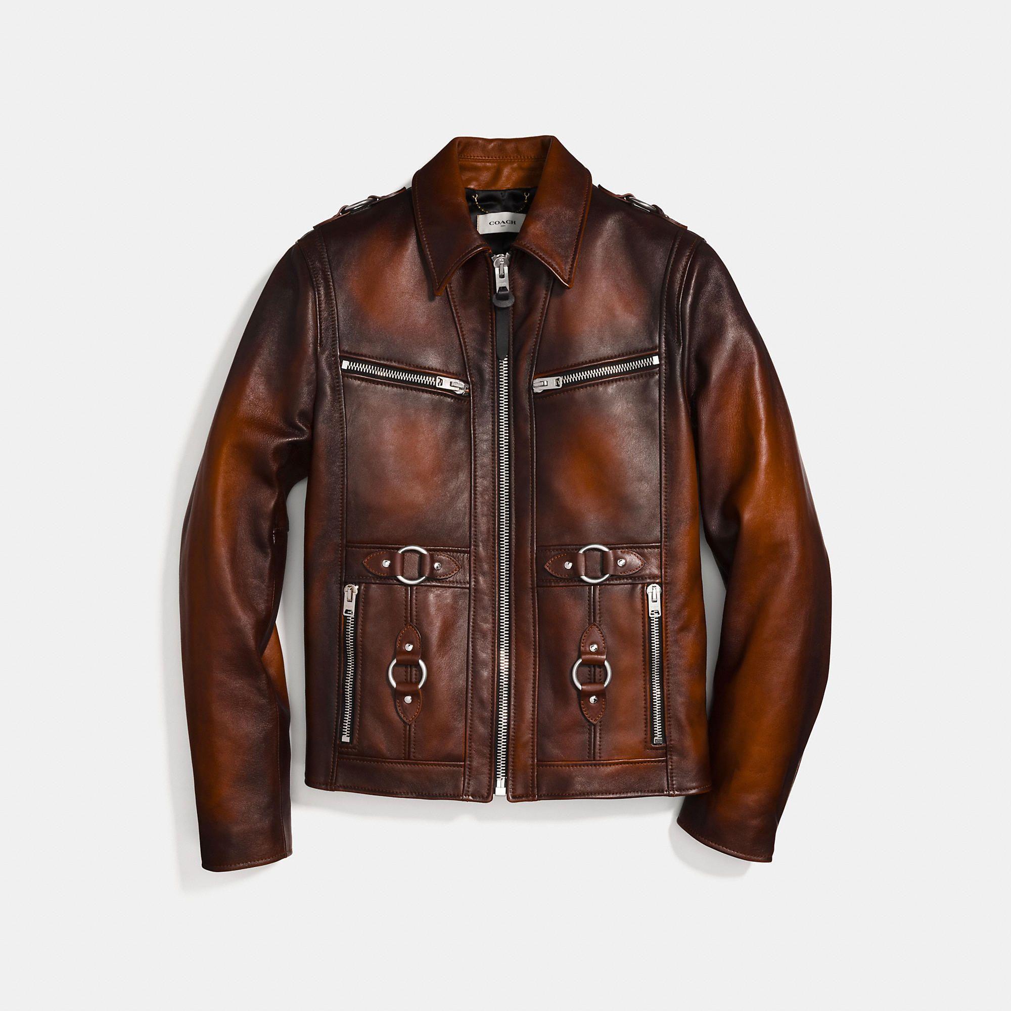 Burnished leather sheriff jacket in 2020 Leather jacket