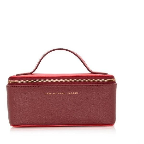 MARC BY MARC JACOBS Colour-block cosmetics case ($140) ❤ liked on Polyvore