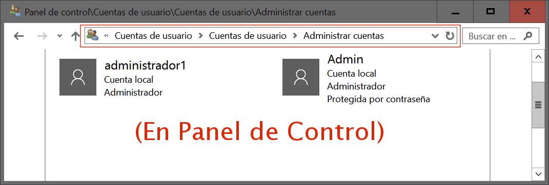 Administración de cuentas de usuario