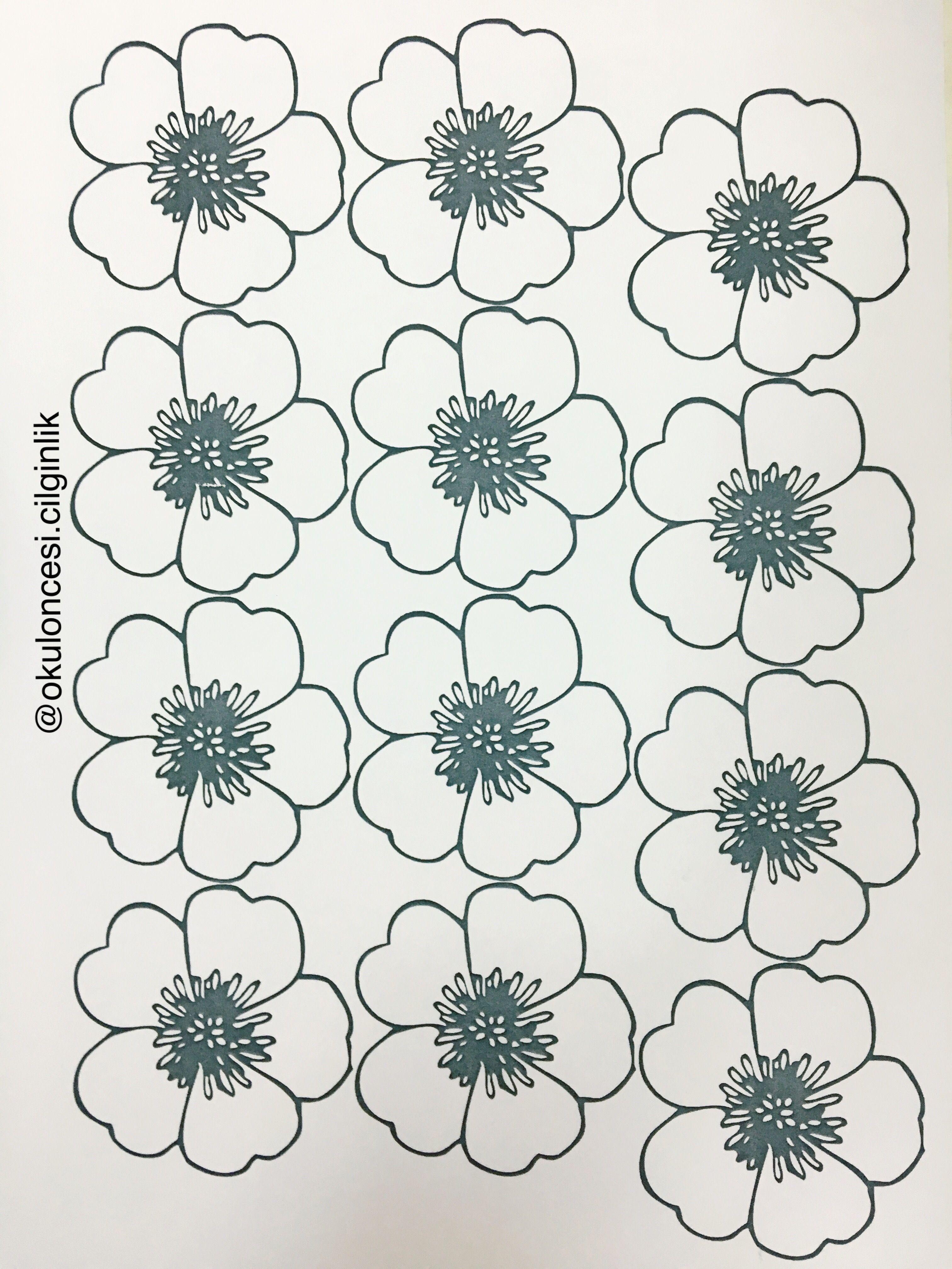 Bahar Tacı Için çiçek Kalıbı Başak öğretmen Sanat Etkinligi Blommor