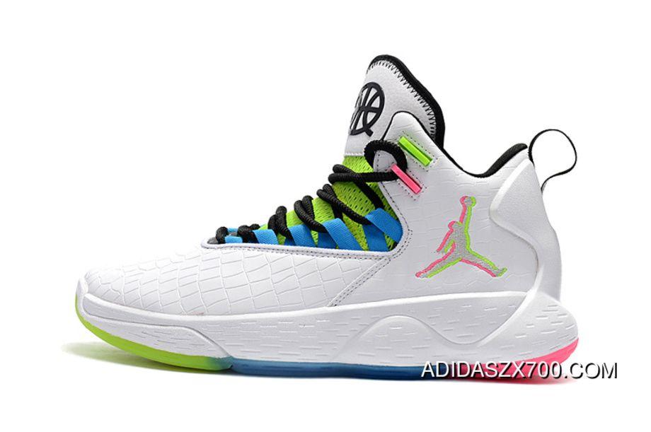 finest selection 0e49d 11657 Nike Jordan Super.Fly MVP Quai 54 Mens Basketball Shoes White Multi-Color  New Year Deals