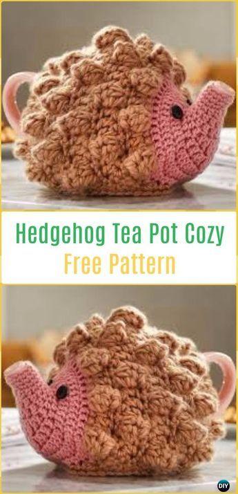 Crochet Hedgehog Tea Pot Cozy Free Pattern-20 Crochet Knit Tea Cozy ...
