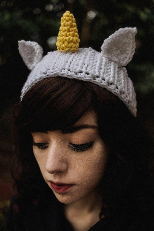 Ikkakujū - Handmade Crochet Unicorn Headband Unicorn Horn Ear Warmer ...