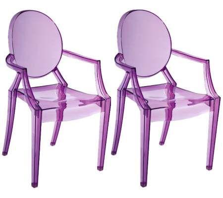 Set Of Two Baby Anime Transparent Purple Kids Armchairs 55downingstreet Com Decoracao De Casa Decoracao Cores