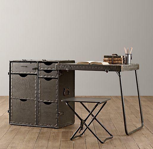 vintage field desk desks u0026 vanities restoration hardware baby u0026 child