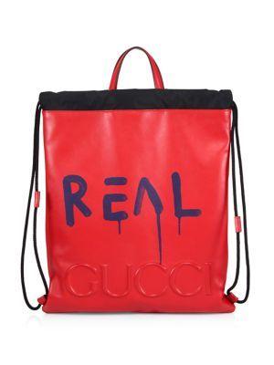 GUCCI Ghost Drawstring Backpack.  gucci  bags  backpack  fe59b7072397b