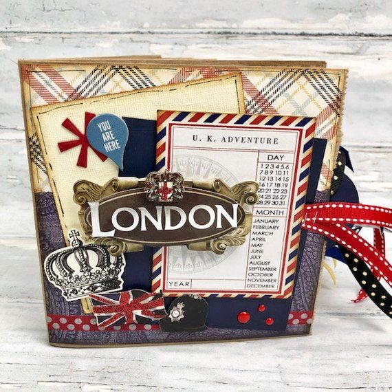 London Mini Paper Bag Scrapbook  6  London England Scrapbook  Travel Journal is part of London Mini Paper Bag Scrapbook London England Etsy -  BLOG apicketfencelife2 blogspot com Thanks for stopping by my shop!  Judy