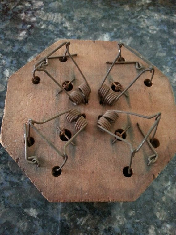Vintage Antique Wooden And Metal Amimal Trap Company Of America Victor Choker Mouse Trap Oddity Curio Curiosity 4 Holes M Antiques Vintage Antiques Mouse Traps