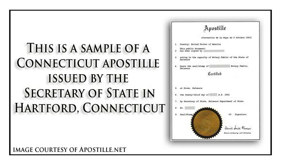 Pin by Apostille Net on State of Connecticut Sample Apostille - copy apostille birth certificate massachusetts