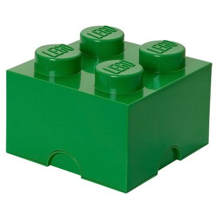 Lego Storage Brick 4, Dark Green #legostorage