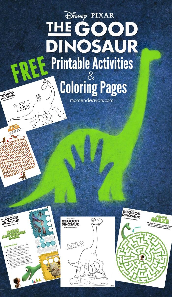 Disney-Pixar The Good Dinosaur Printable Activities & Coloring ...