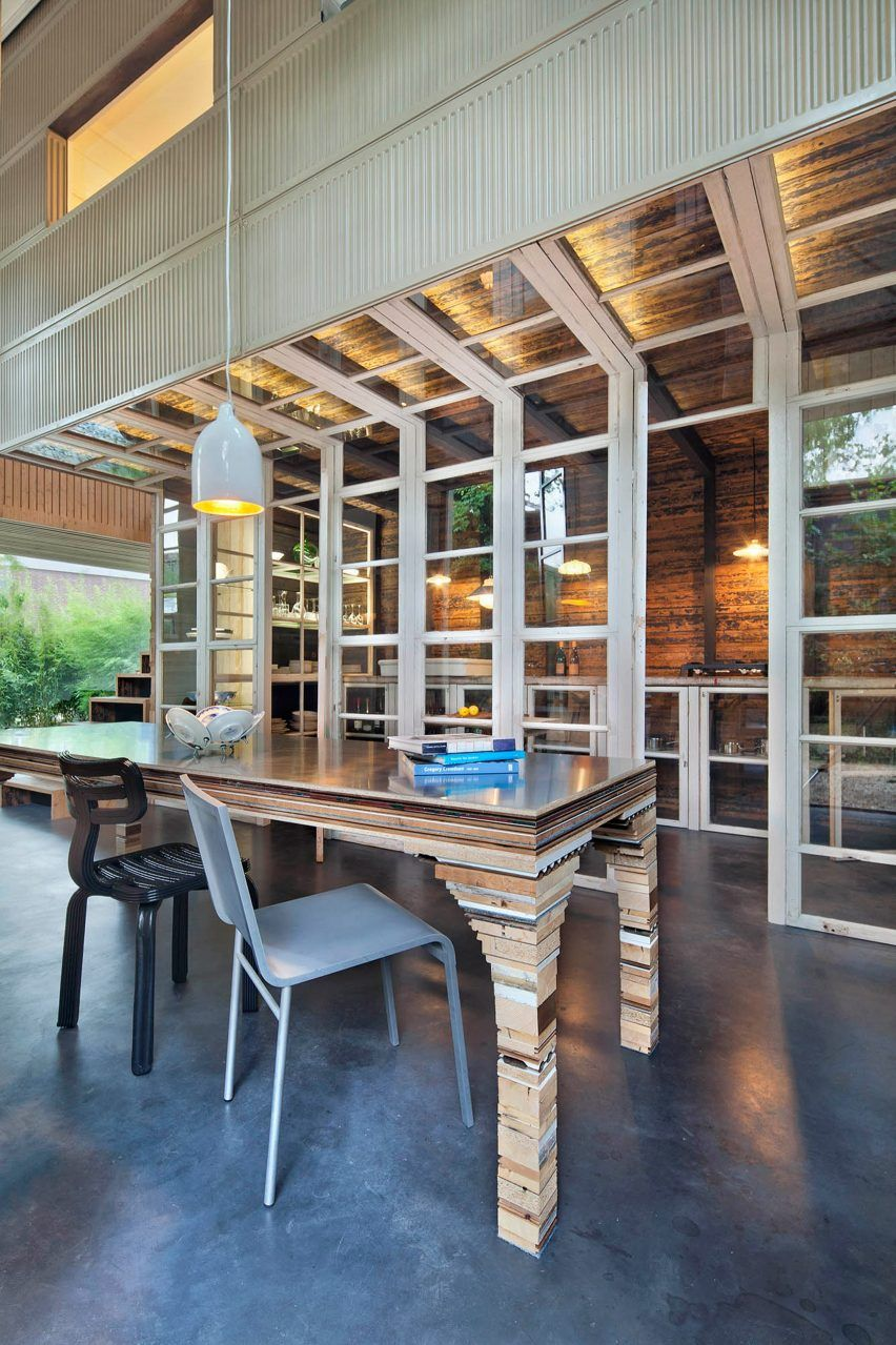 coach house interiors. Rolf Bruggink uses salvaged materials to convert coach house into home