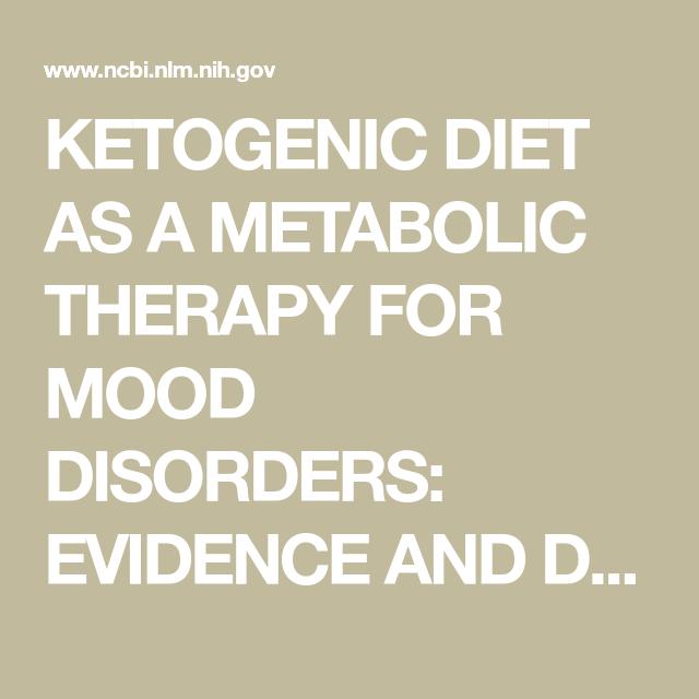 keto diet and mental health pub med