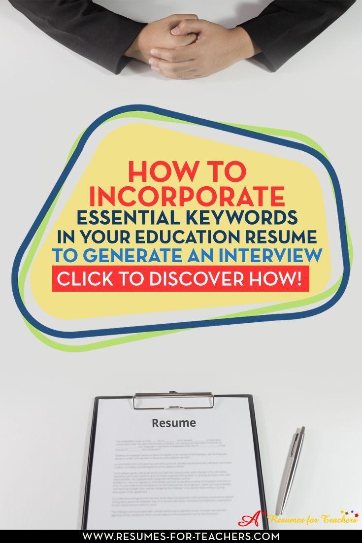 teacher keywords for resumes