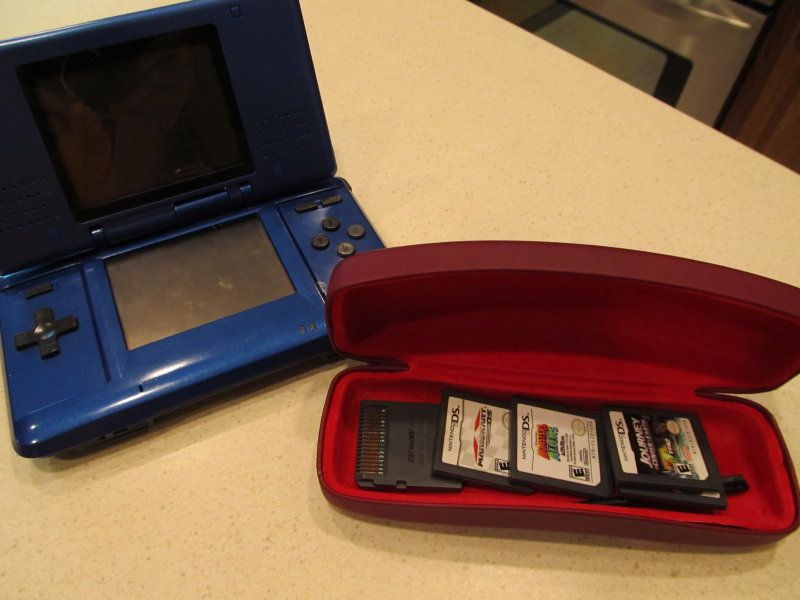 Storage Solution For Those Tiny Nintendo DS Cartridges   An Eyeglass Case!