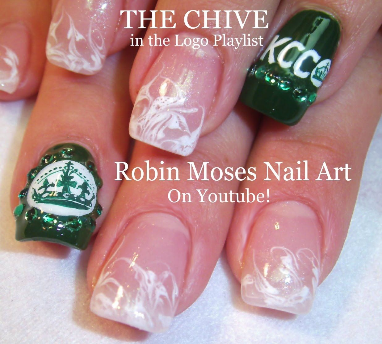3 Nail Art Tutorials | DIY no water marble & The CHIVE Logo ...