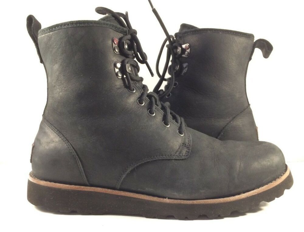 153111ad9d3 eBay Sponsored) Ugg Australia Black Leather Seton Lace Up Ankle ...