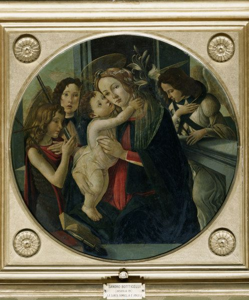 Bild:  Sandro Botticelli - Botticelli / Mary and Child, St. John..