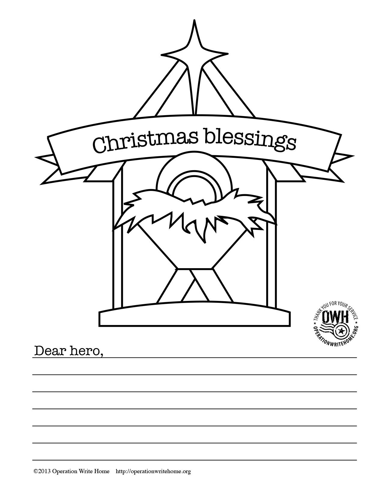 Coloring Pages Operation Write Home Military Christmas Cards Military Christmas Coloring Pages