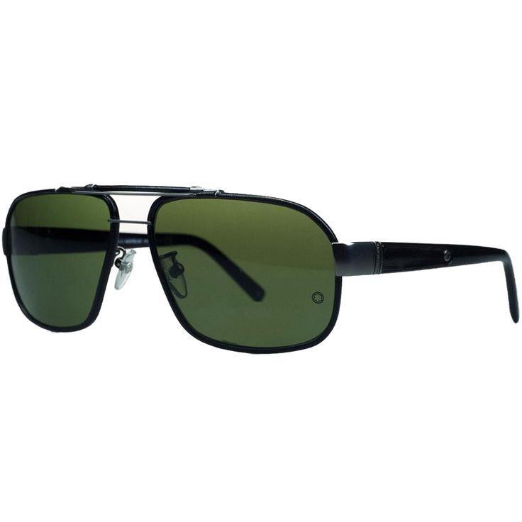 Montblanc Black/Gunm Montblanc Black/Gunmetal Aviator Sunglasses