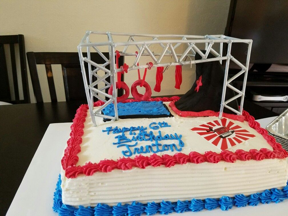 American Ninja Warrior Cake Cakes And Creations In 2019