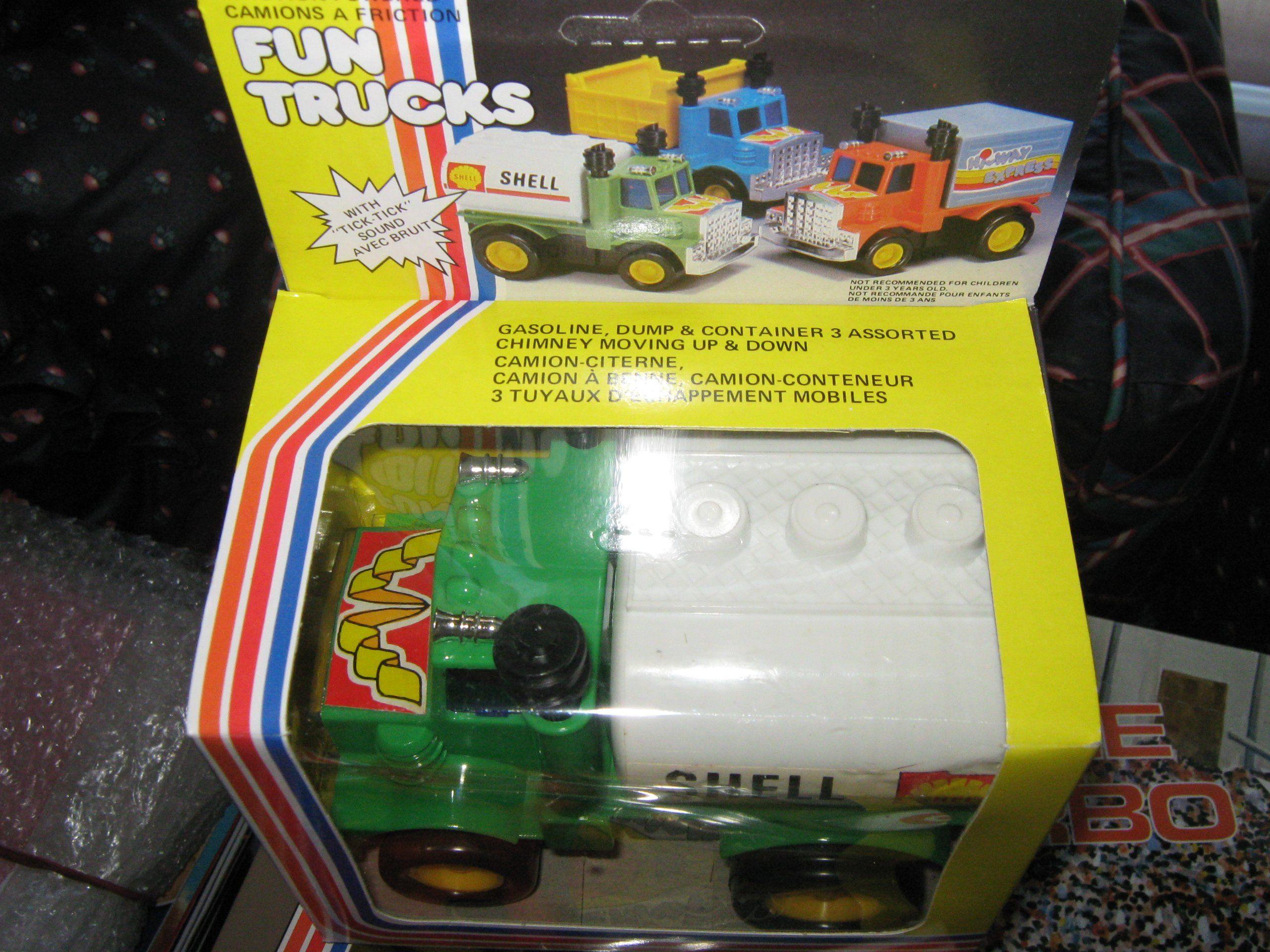 Shell Gasoline Fun Truck Friction Powered Ticktock Sound