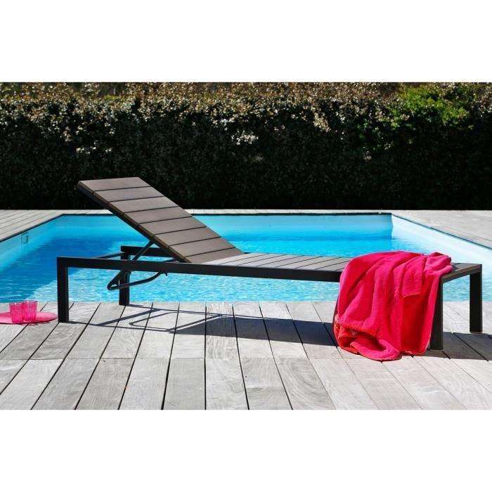 bain de soleil en aluminium et nowood gris bain de. Black Bedroom Furniture Sets. Home Design Ideas