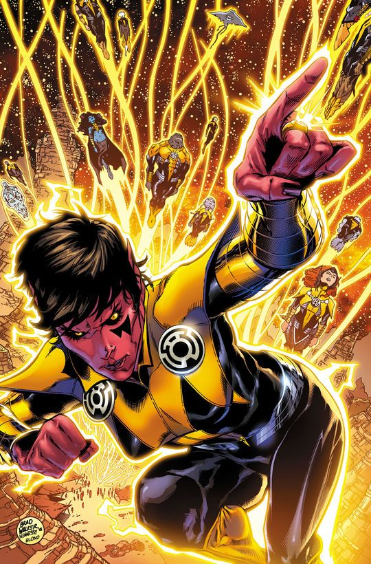 Yellow Lantern Soranik Natu By Brad Walker  Comicbooks -2444