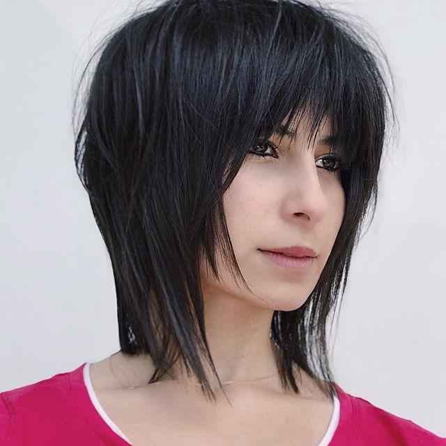 50 Best Mittellang Frisuren Frauen Zur Umwandlung Von Dünnes Haar in 2020 |  Medium length hair styles, Medium length hair with bangs, Hairstyles with  bangs