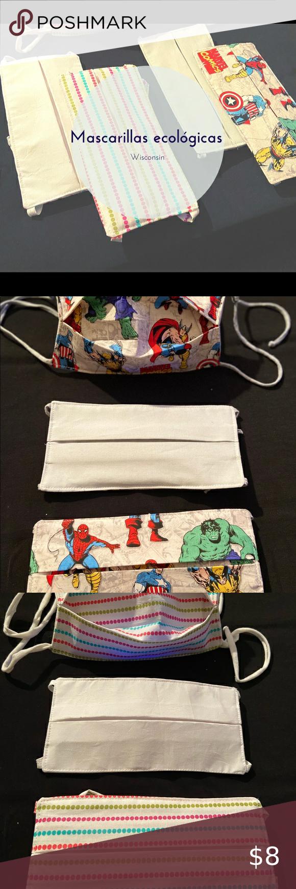 Masks / Cubreboca Cubreboca 😷 de 3 capas    Características técnicas :   🔹3 capas (tela-filtro-tela). 🔸Ajustable a cada persona. 🔹Ecológico - Lavable -Reutilizable. 🔸Cada CUBREBOCA cuenta con dos diseños (reversibles) para combinarlos con tu ropa.  Si necesitas más información no dudes en enviarnos un mensaje 📨   #QuedateEnCasa  #Covid-19 #Wisconsin #Madison Other