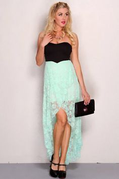 turquoise and black high low dress - Google Search | Graduation ...