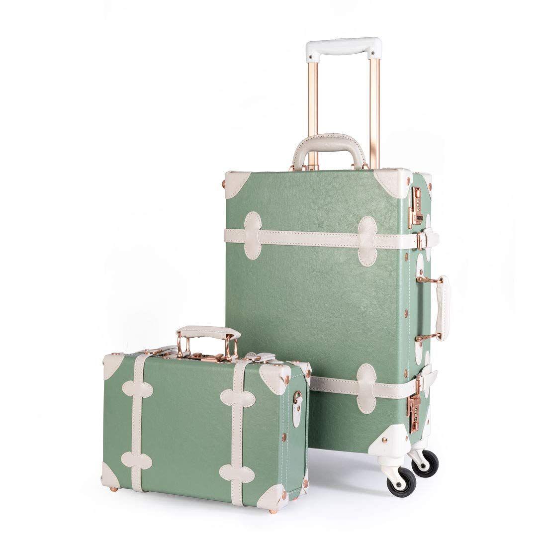 8b7834e6ae57 Amazon.com: UNIWALKER Pu Leather Vintage Luggage Set Carry On ...