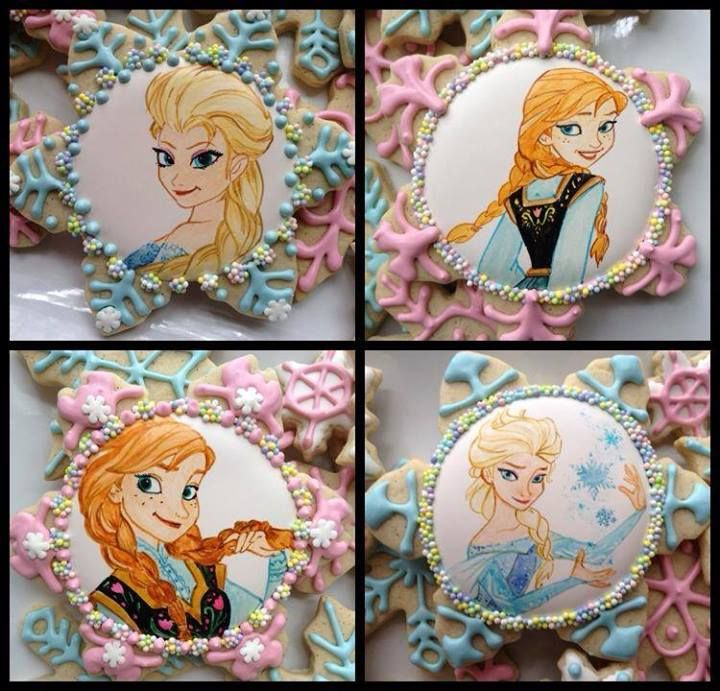 Disney Frozen cookies by Cookie Cowgirl