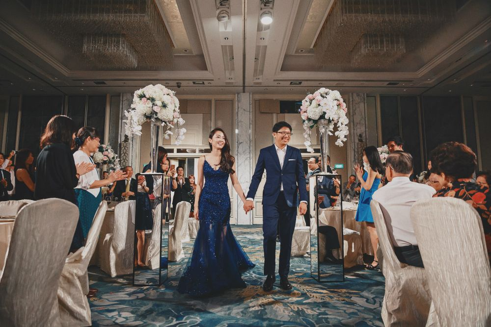 Classy Elegance Her World Singapore Wedding Gowns Elegant Blue Wedding
