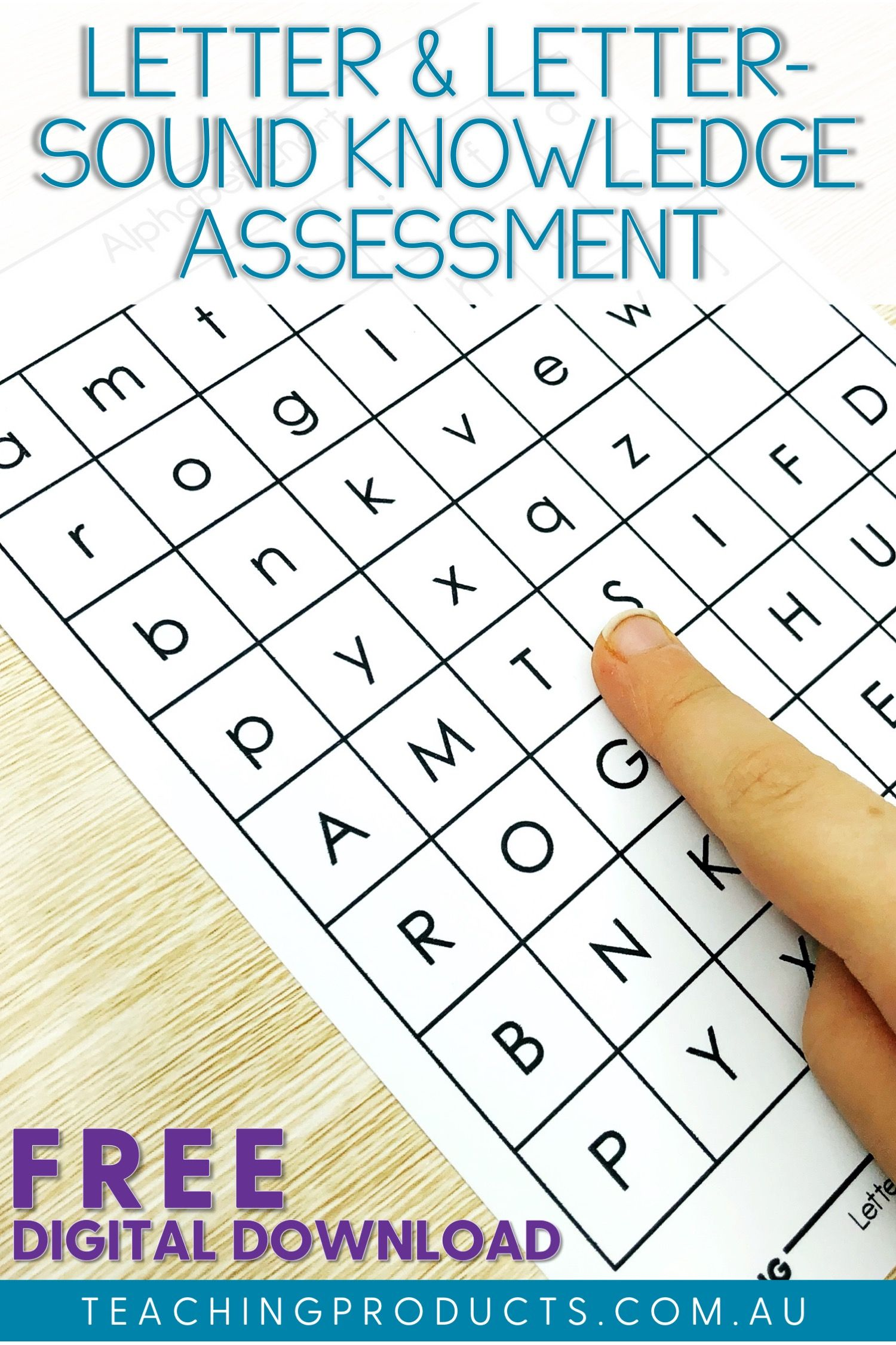 Free Letter Knowledge Assessment