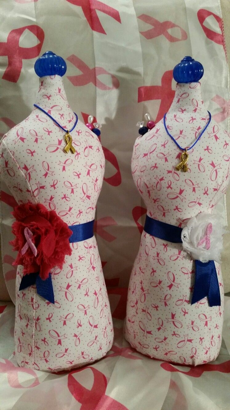 Maniquie Decorativo/Alfiletero Breast Cancer Awareness Ribbons Diseño 2016 Sales $20