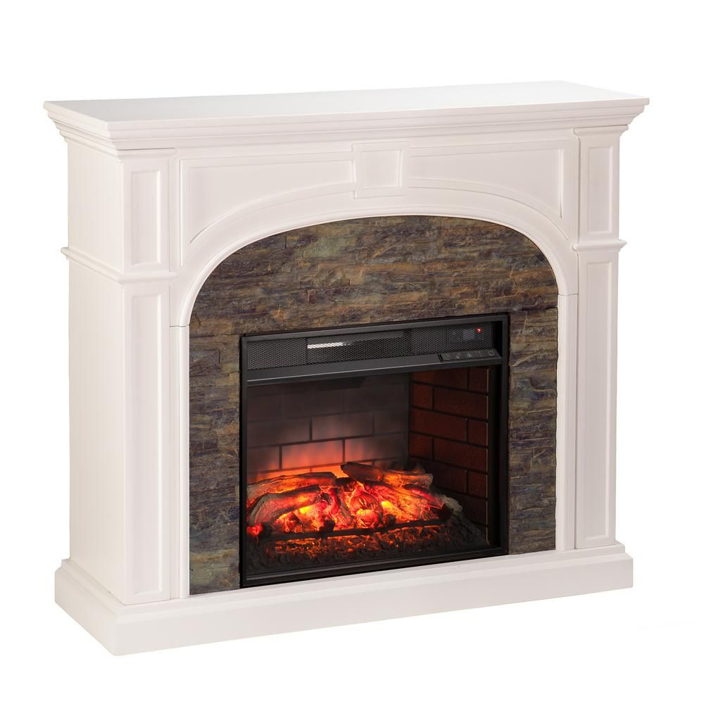 null granby 45 75 in w faux stone infrared electric fireplace in rh pinterest co uk