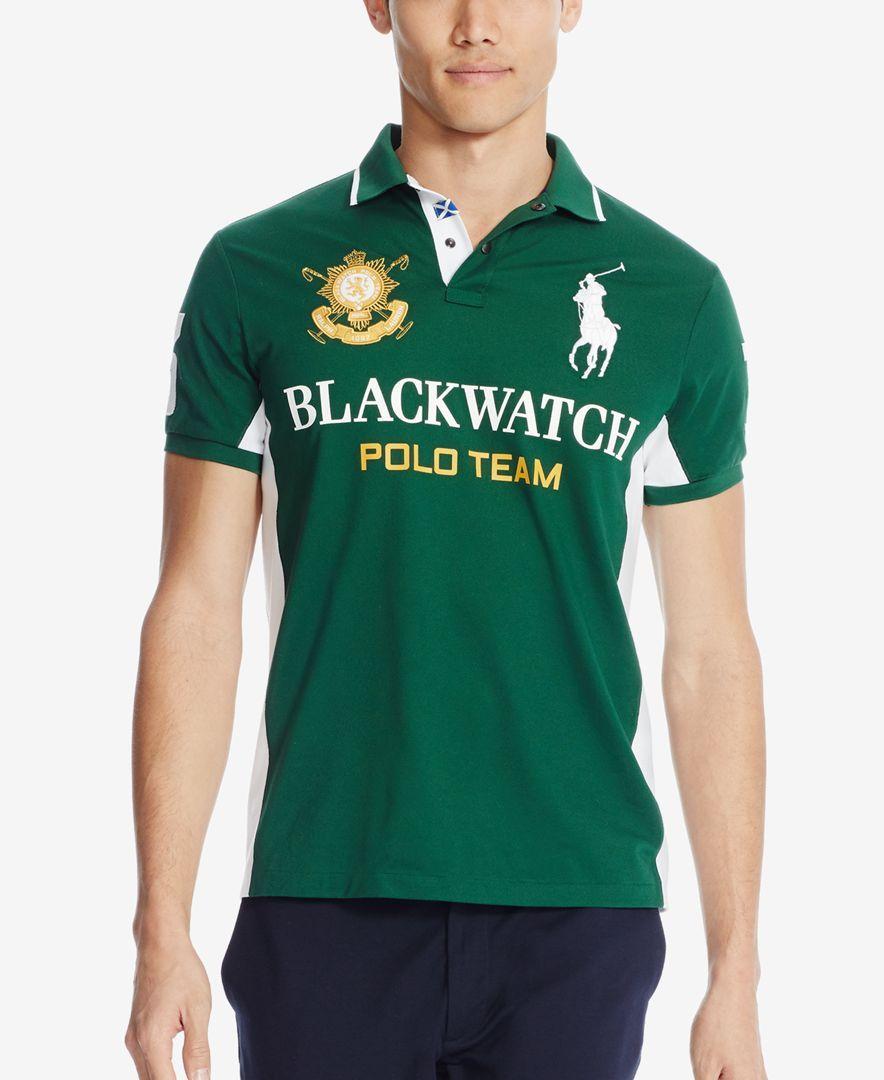 d2feaa1b89e4 Polo Ralph Lauren Black Watch Custom-Fit Pieced Polo Shirt ...