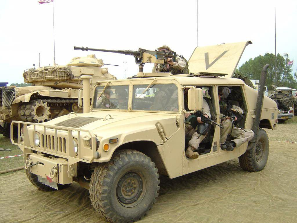 Up-armored HMMWV interior