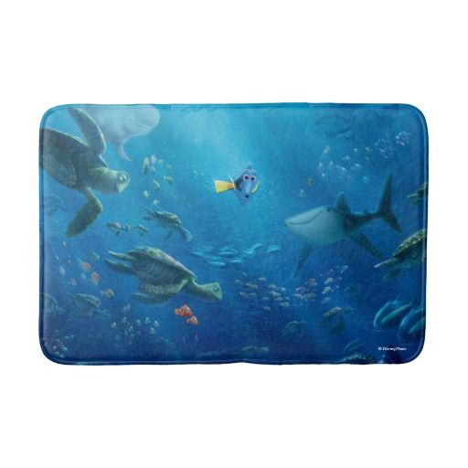 Finding Dory An Unforgettable Journey Bathroom Mat Bathroom Mats Dory Bathroom Finding Dory