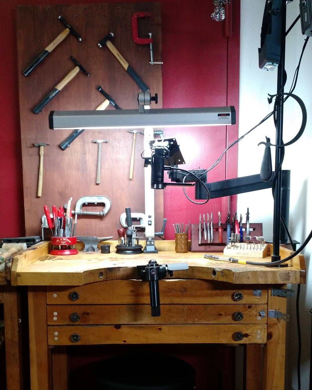 See This Instagram Photo By Jewelryclassdc 57 Likes Vintage Bench Workspace Studio
