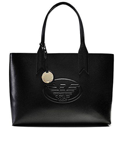 d3e4d93460 Emporio Armani Logo Shopping Donna Handbag Nero #borse borse Armani, Armani  Shopping Bag