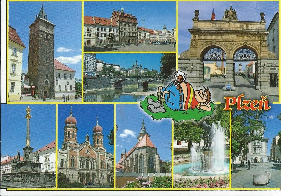 Just received this postcard from Czech Republic. Plzen