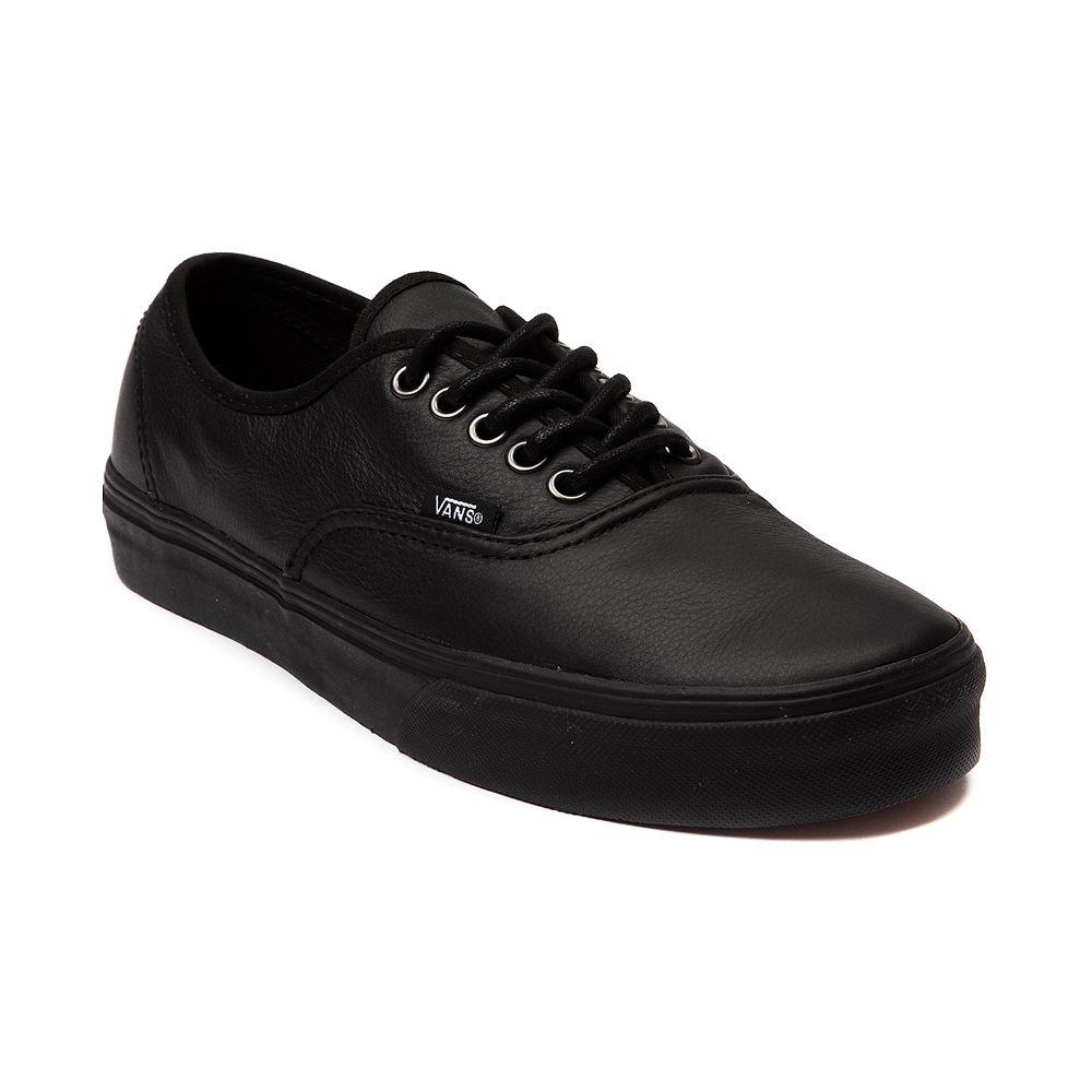 vans authentic black leather