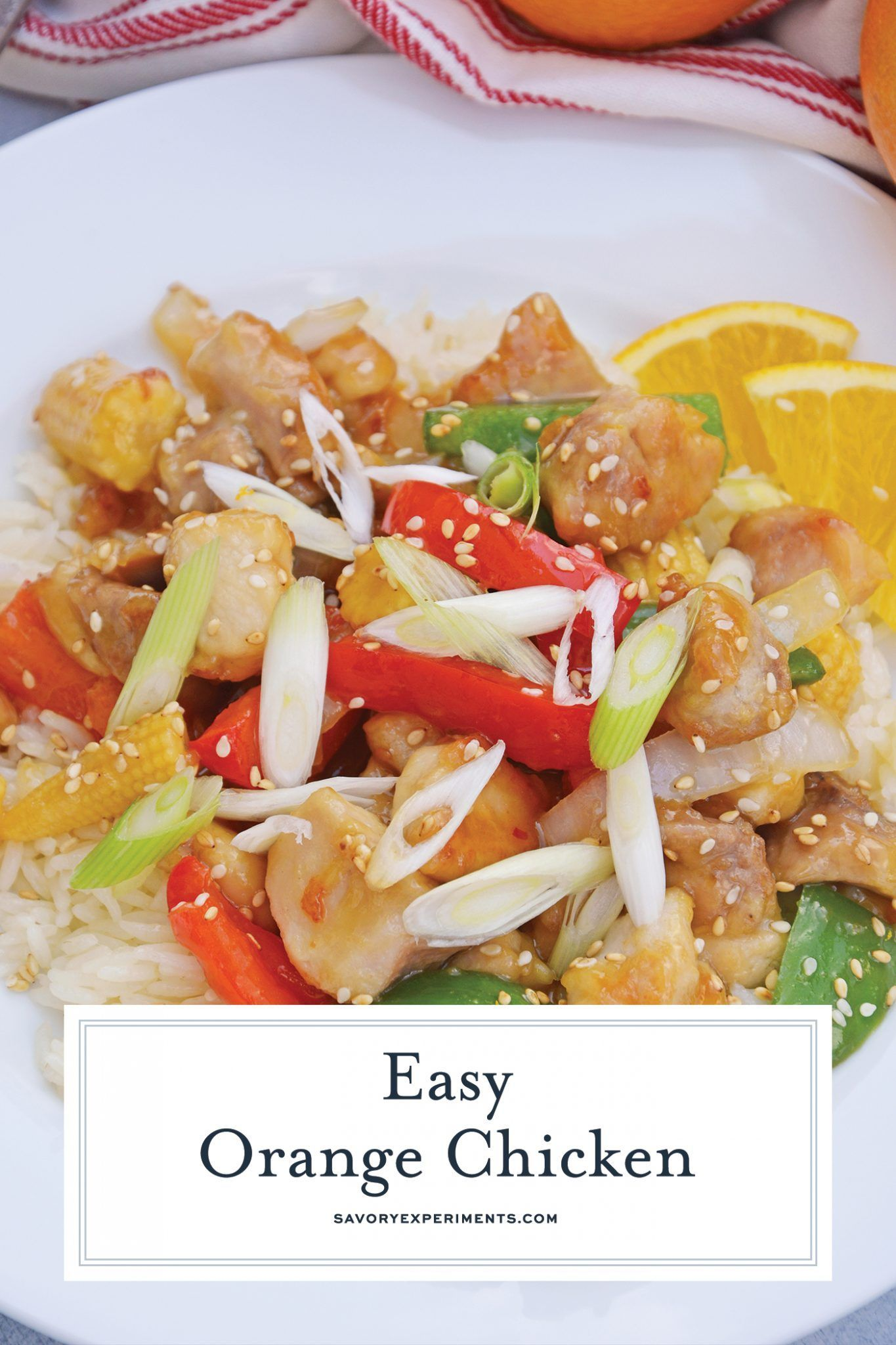 This Orange Chicken Recipe is amped up with bell pepper ...