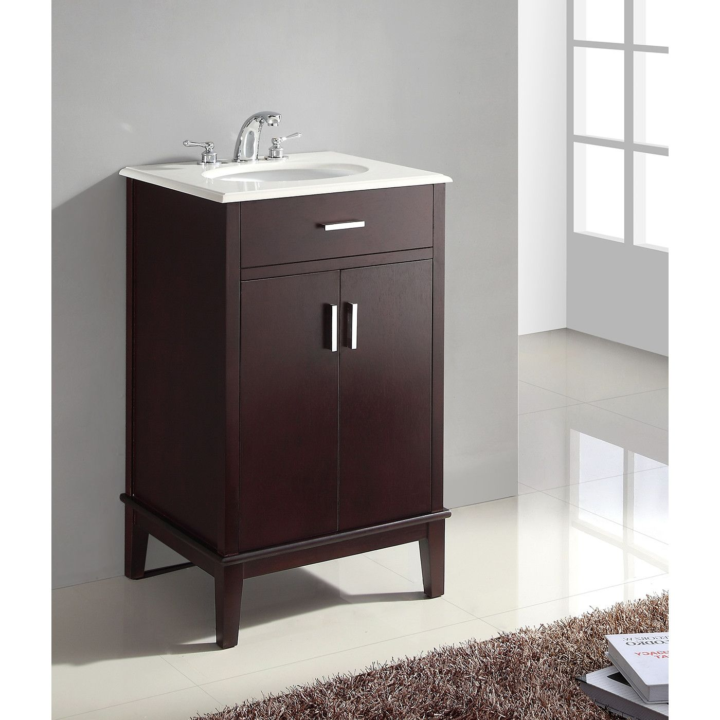 Cheap bathroom vanities under 24200 -  299 Simpli Home Urban Loft 21 Single Bathroom Vanity Set