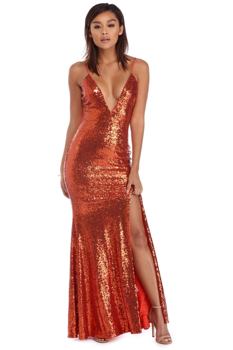 a1201ec15958 Katie Rust Full Sequin Formal Dress | WindsorCloud | METALLICS in ...