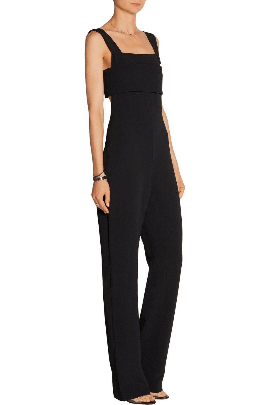 Cutout stretch-cady jumpsuit | Cushnie et Ochs | US | THE OUTNET